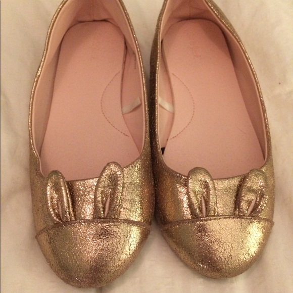 3503425f646 Cat   Jack Other - Girls gold bunny flats